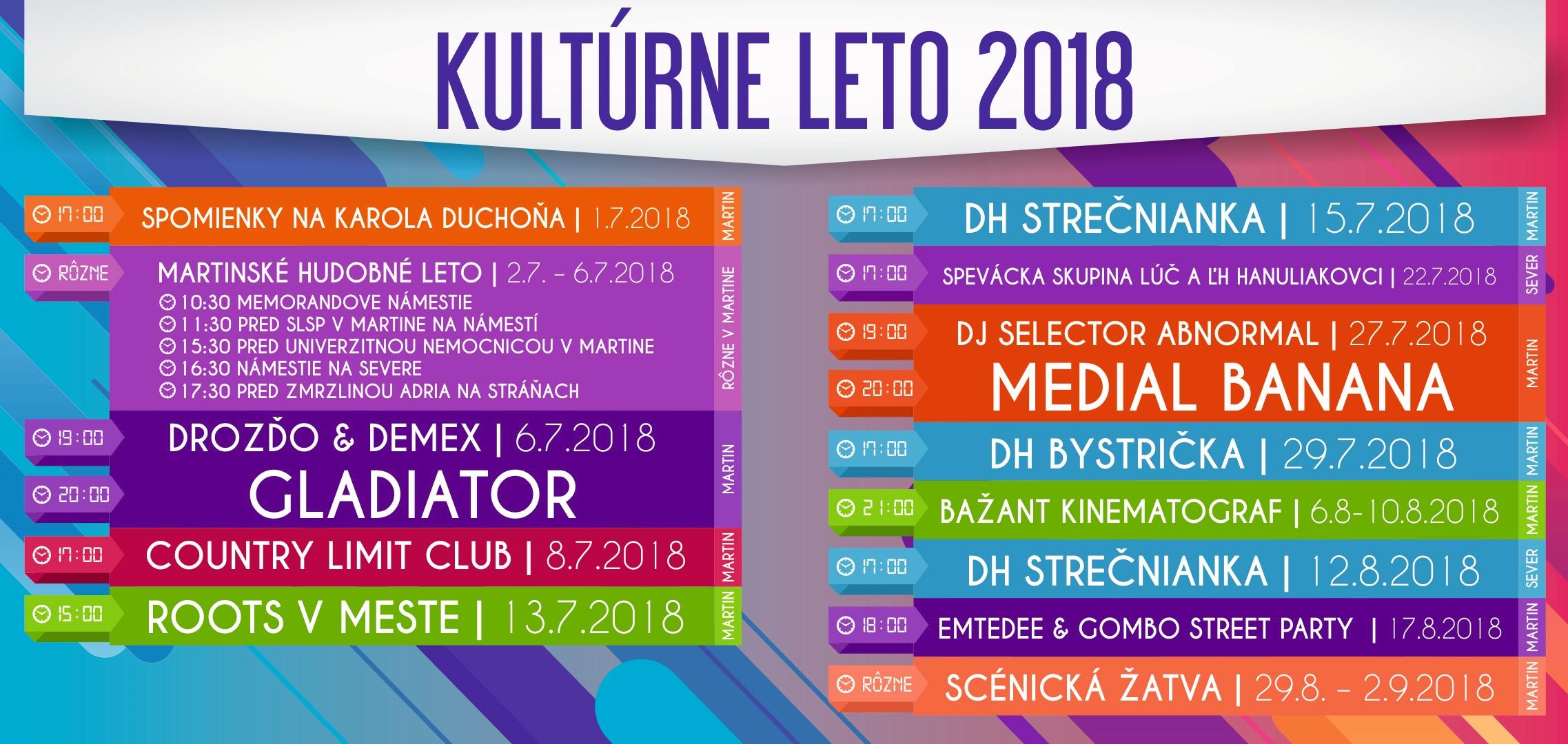 Kultúrne leto 2018