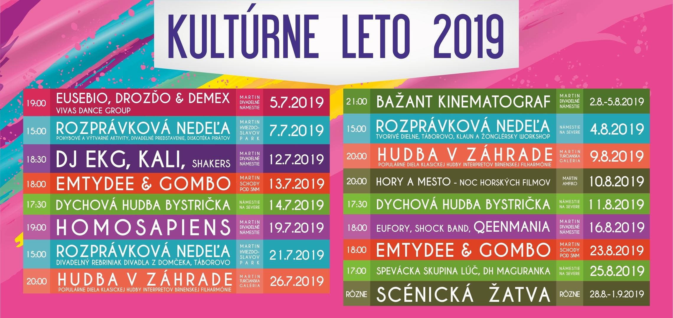 Kultúrne leto 2019